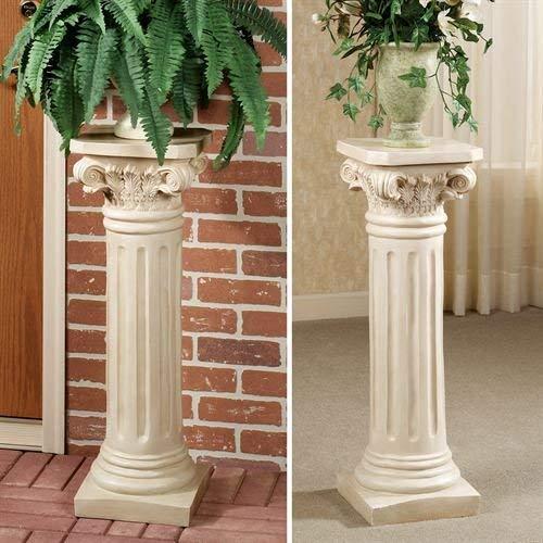 Touch of Class Classic Roman Column Pedestal Cream