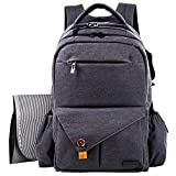 Hap Tim Multifunction Large Baby Diaper Bag Backpack W Stroller StrapsInsulated Bottle PocketsChanging Pad, Nylon Fabric Waterproof for Moms Dads 5284 DarkGray