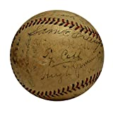 1916 Detroit Tigers Team Signed Baseball with Ty Cobb. Rare, 22 Sigs. JSA.
