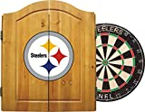 Imperial Officially Licensed NFL Merchandise: Dart Cabinet Set with Steel Tip Bristle Dartboard and Darts, Pittsburgh Steelers