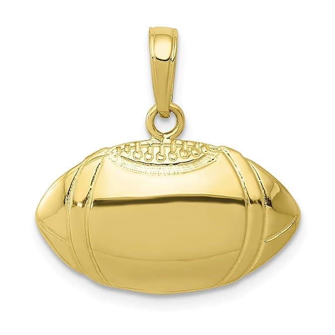 Colgante de oro amarillo de 10 quilates con diseño de balón de ...