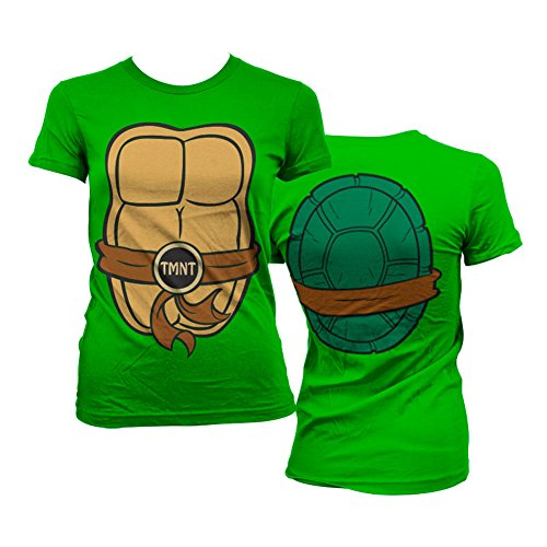 Teenage Mutant Ninja Turtles Officially Licensed Merchandise TMNT Costume Girly Tee (Green), Large ()
