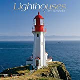 Lighthouses 2019 12 x 12 Inch Monthly Square Wall Calendar with Foil Stamped Cover, Ocean Sea Coast (English, French and Spanish Edition)