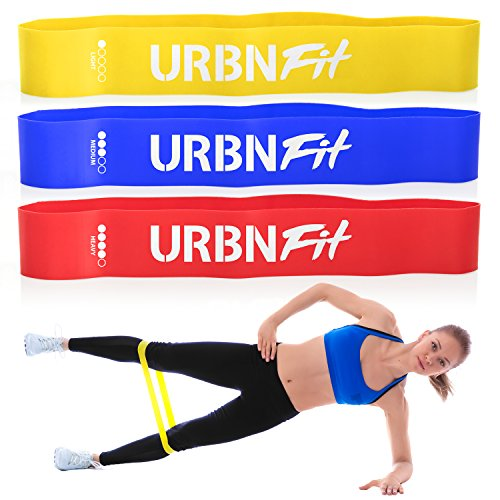 URBNFit Loop Exercise Bands 3 Pack w/Workout Guide- Workouts