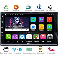 [NEW] ATOTO A6 2DIN Android Car Navigation Stereo with Dual Bluetooth & 2A Charge -Premium A62721P 2G/32G Car Entertainment Multimedia Radio,WiFi/BT Tethering internet,support 256G SD &more