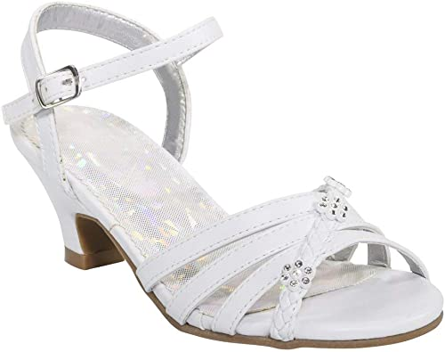 Girls NEW SPARKLE PUMPS PARTY SUMMER SHOES 4 5 6 7 8 9 10
