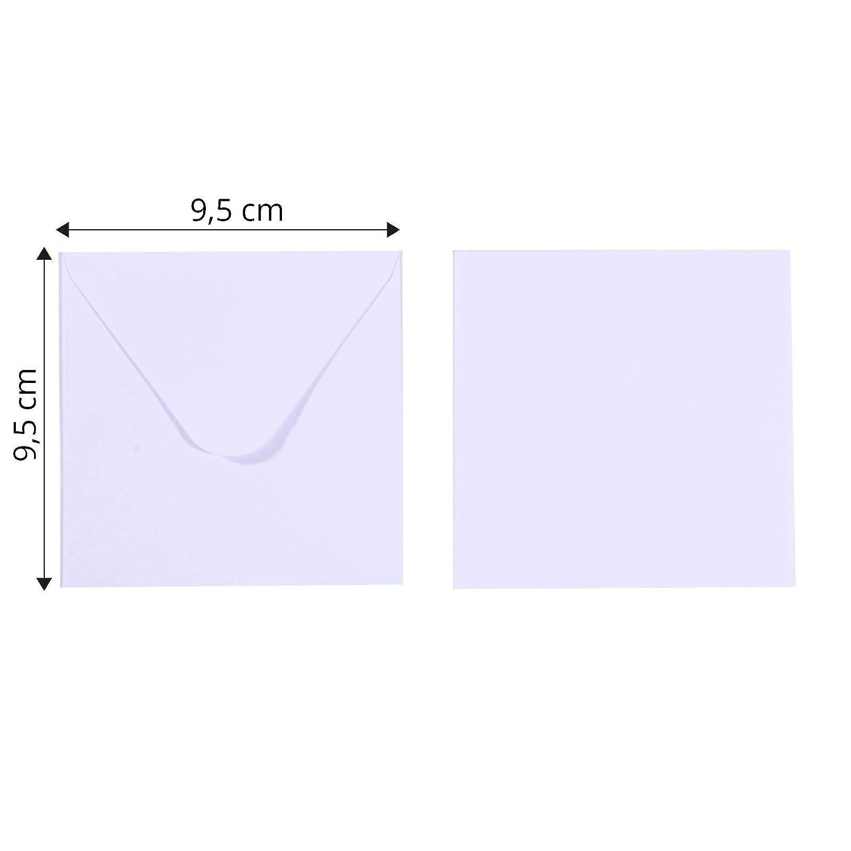 Vaessen Creative Florence Briefumschl/äge Quadratisch Gro/ß Elfenbein f/ür Geburtstagskarten passende Faltkarten erh/ältlich 25 St/ück