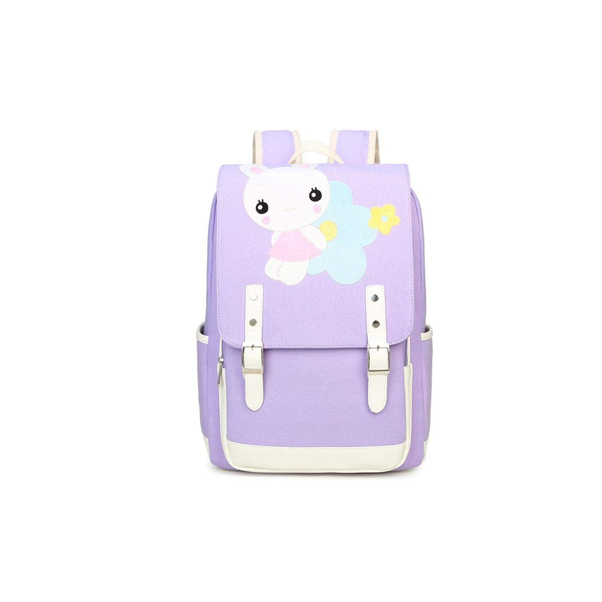TONGBOSHI Simple Fashion Backpack, School Bag Primary School Student, Girl Leisure Travel Travel Backpack, Lightweight Backpack (Color : Purple, Size : S)