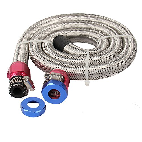 CarBole Universal Steel Braided Fuel Line for 3/8
