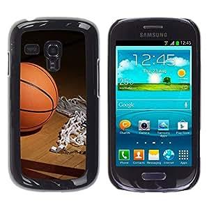 // PHONE CASE GIFT // Duro Estuche protector PC Cáscara Plástico Carcasa Funda Hard Protective Case for Samsung Galaxy S3 MINI 8190 / Aro de baloncesto /