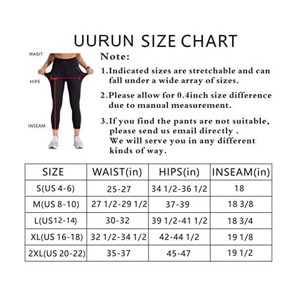 Uurun High Waist Yoga Capris Mesh Leggings Workout Running Pants Casual Tights With Pockets Non See Through Fabric