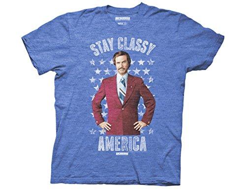 Ripple Junction Anchorman Stay Classy America Adult T-Shirt 2XL Heather Royal]()