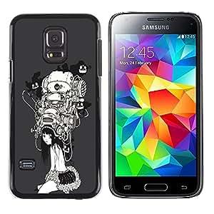 Shell-Star Arte & diseño plástico duro Fundas Cover Cubre Hard Case Cover para Samsung Galaxy S5 Mini / Galaxy S5 Mini Duos / SM-G800 !!!NOT S5 REGULAR! ( Sci Fi Girl )