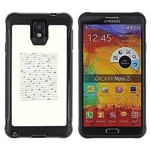 Paccase / Suave TPU GEL Caso Carcasa de Protección Funda para - Letter Hand Written Sea Boat Waves White - Samsung Note 3