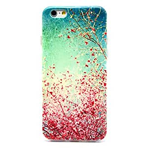 YULIN Cherry Blossoms in Full Bloom Pattern TPU Soft Cover for iPhone 6