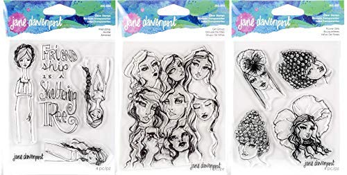 Jane Davenport Artomology Clear Stamps - Friendship, Girl Group and Flower Girls from Jane Davenport Artomology
