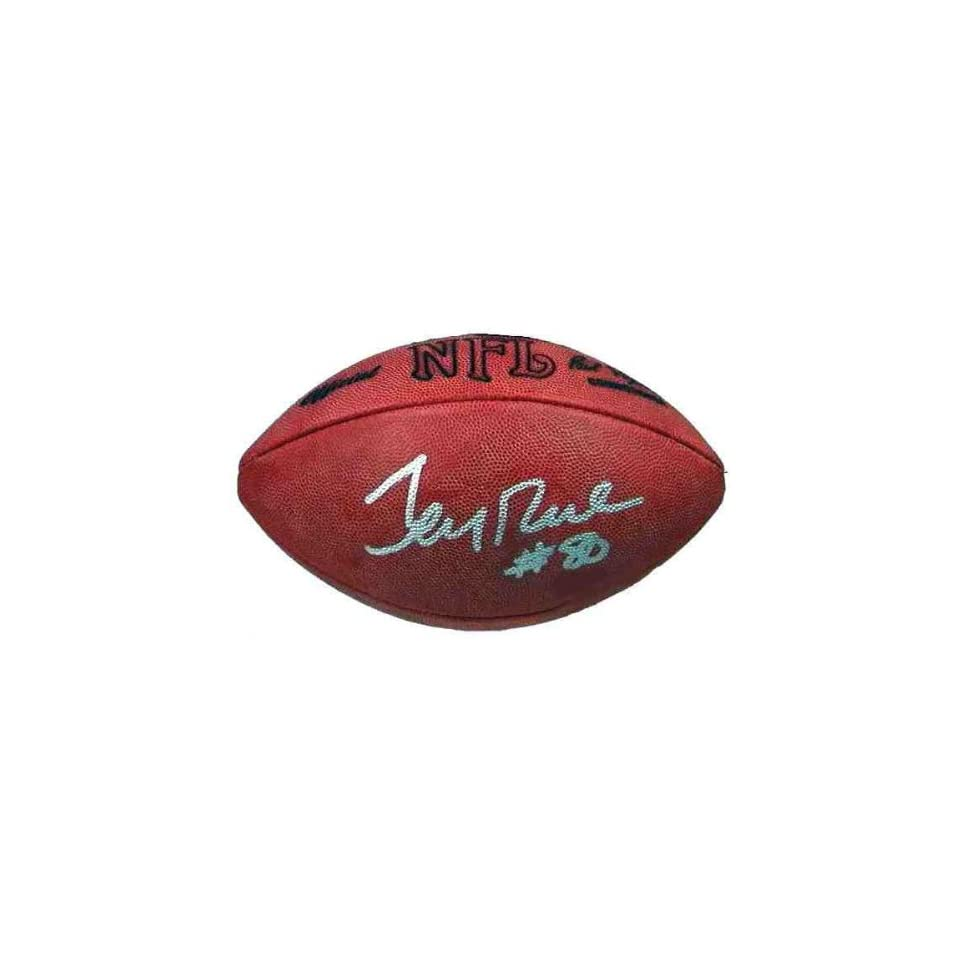 Jerry Rice Autographed Football in Golden Classic Display Case
