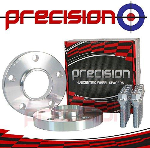 E34 Bolts for ƁMW M5 Alloy Wheels E12 E28 E61 PN.SFP-2PHS5+10BM1745119 E60 Precision 20mm Hubcentric Spacers 1 Pair