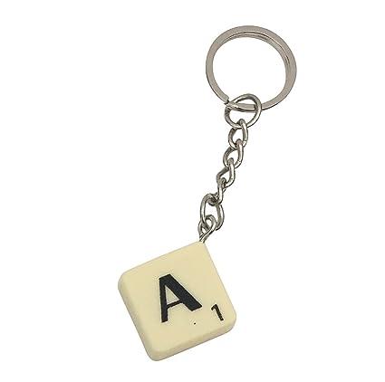 Scrabble Style - Llavero de azulejos de plástico, color ...