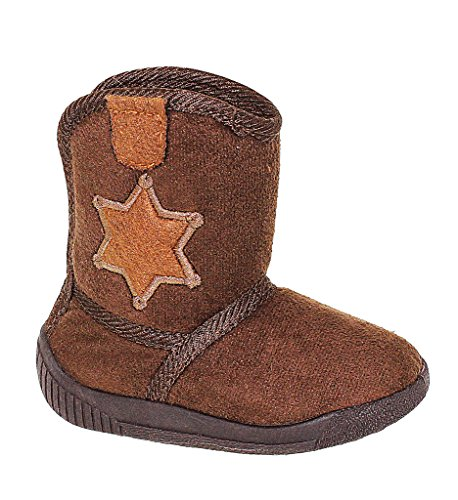 - Toddlers Western Inspired Sheriff Booties, BROWN, SIZE 12 US