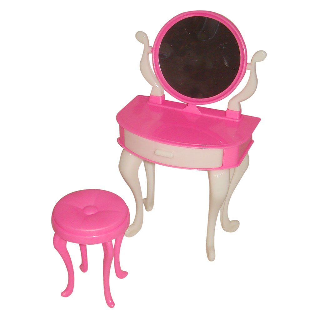 1 Set Plastic Dressing Table and Chair for 29cm Barbie Dolls Generic STK0157000106