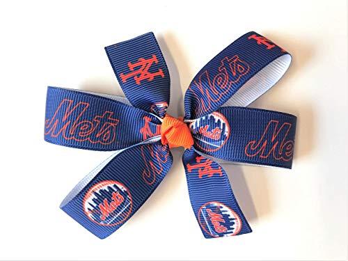 Girls NY Mets Hair Bow MLB New York Mets Baseball Hair - Headband York Mets New