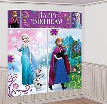 Amazon.com: Disney s Frozen Escena Setters Muro Banner ...