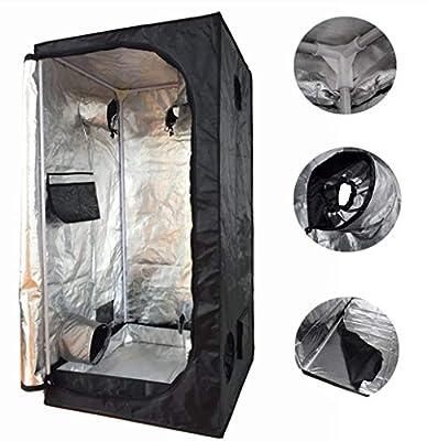 """Smartbuy247 New 24""""X24""""X55"""" Grow Tent Bud Dark Green Room Hydroponics Box Mylar Silver!!"""