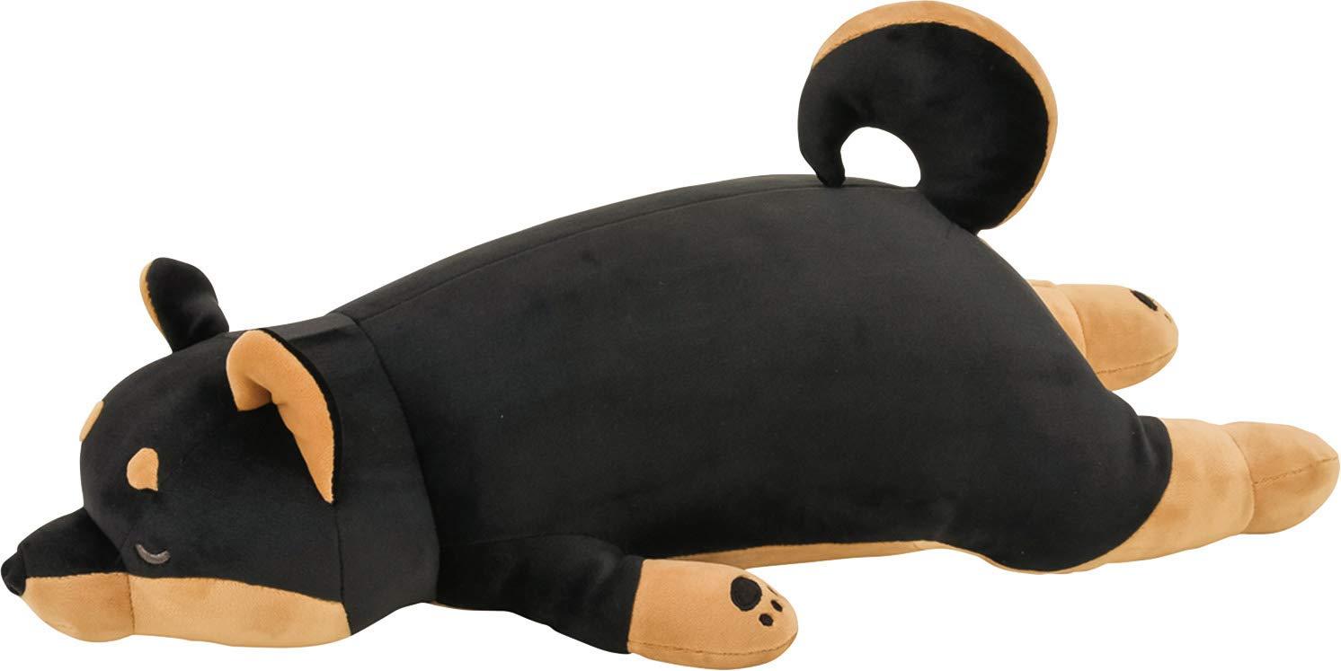 LivHeart Premium Nemu Nemu Sleepy head Animals Body Pillow Black Plush Dog KuroShiba 'Kotetsu' size M (22''x9.5''x5.5'') Japan import 48769-73 Huggable Super Soft Stuffed Toy by LIV HEART