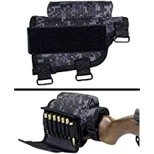 Ultimate Arms Gear Rifle Ammo Round Shot Shell Cartridge Hunting Stock Buttstock Cheek Rest Carrier Case Holder Fits .308 300 Winmag Federal Arms HK91 G3 Models, Urban Digital