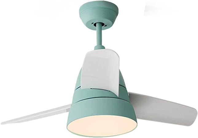 GYM Lumière Ventilateur Macarons Ventilateur De Plafond LED