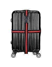WindTook Luggage Straps with TSA Lock, Travel Luggage Strap with 3 Dial TSA Approved Lock SZDBD-01(Black)