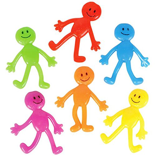 "Stretch Smiley Face Sticky Guy Figures 2.5"" Stretch Smile Men (24 (Smiley Face Guy)"