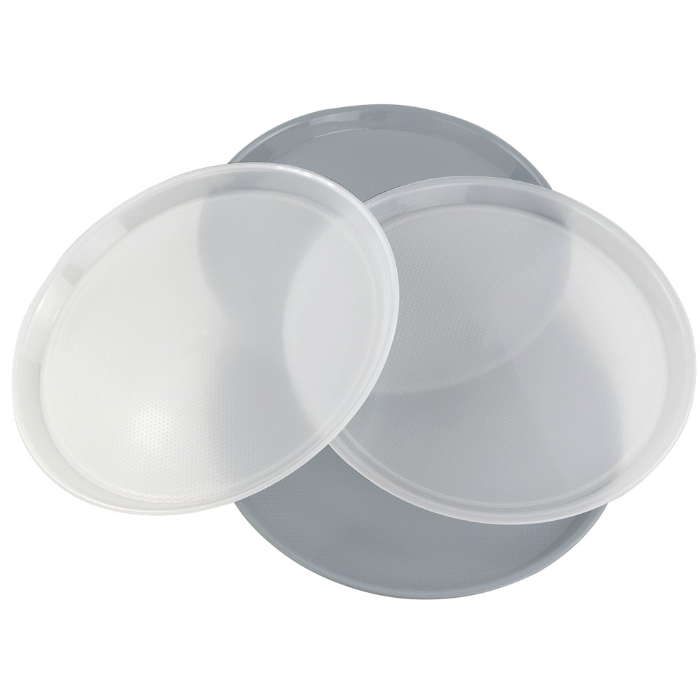 13.5-inch Jekiyo Plastic Round Serving Tray Set of 4