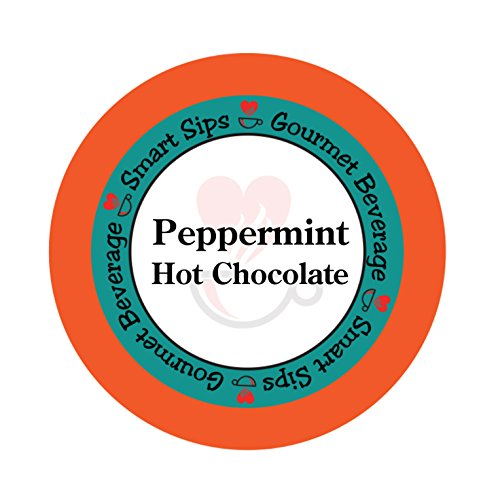 Peppermint Hot Chocolate, 24 Count, Single Serve Hot Cocoa Cups Compatible With All Keurig K cup Brewers