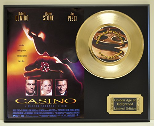 """""""Casino"""", Limited Edition Gold 45 Record Display. Only 500 made. Limited quanities. FREE US SHIPPING"""