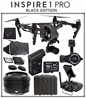 DJI Inspire 1 v2.0 PRO Black Edition Quadcopter with Zenmuse X5 4K Camera and 3-Axis Gimbal Bundle Kit Package