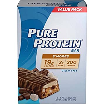 Pure Protein High Protein Bars, S mores, 1.76 Ounce, 6 Count Pack of 4