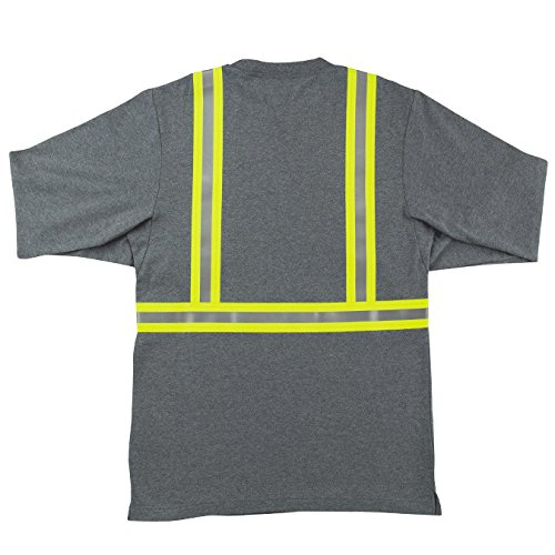 Oil and Gas Safety Supply Men's FR Reflective Long Sleeve Shirt 2XL Gray by Oil and Gas Safety Supply (Image #2)