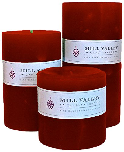 Mill Valley Candleworks Pumpkin Spice Unscented Candle Gift Set, 4-Inch, Set of 3