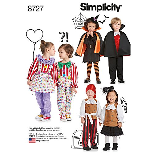 Simplicity Creative Patterns US8727A Toddlers' Costumes Pattern