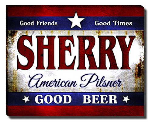Sherry Wood Finish - ZuWEE Sherry's American Pilsner Gallery Wrapped Canvas Print