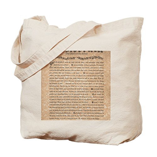 Desiderata Bag Natural Max Poem Shopping Canvas The By Bag CafePress Cloth Ehrmann Tote 5Hgaqwx