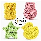 Best Baby Sponges - 4 Pack Baby Bath Sponge, Baby Bath Foam Review
