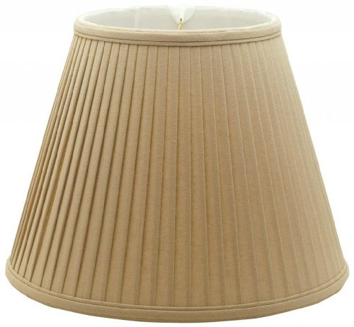 Royal Designs Deep Empire Side Pleat Basic Lamp Shade, Linen / Taupe 10 x 20 x 15 by Royal Designs, Inc