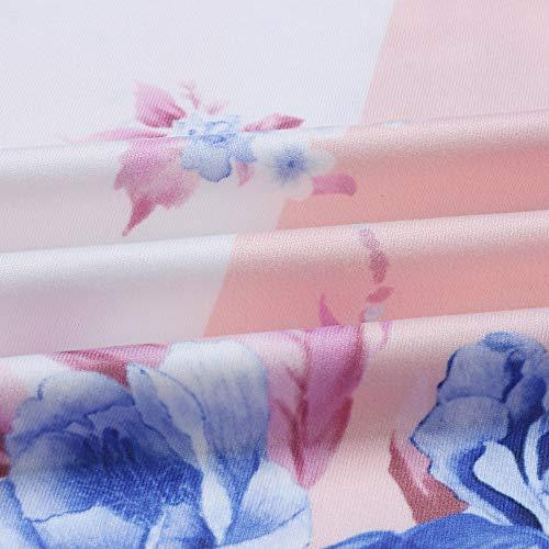 Mujeres Casuales Franja De Impresión Cuello Redondo De Manga Larga Noche Vestido De Fiesta, Beikoard Impresión Bolsillo Mangas Largas: Amazon.es: Ropa y ...