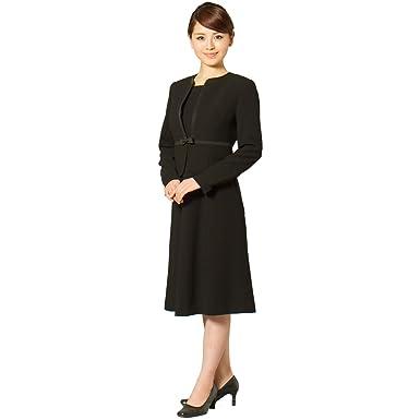 94f1f921925a2 Amazon.co.jp: 喪服 ブラックフォーマル レディース 礼服 ノーカラー 黒 ...