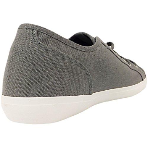 Plain para hombre zapatillas de Voi cordones lienzo bomba de rodillo de entrenamiento para protectores de calcetines para 6 7 8 9 10 11 gris - gris
