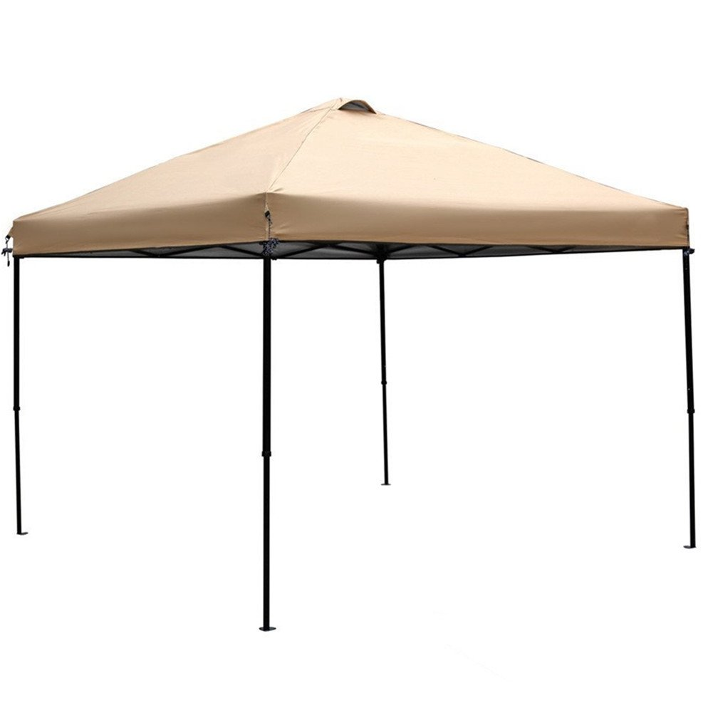 Abba Patio Replacement Top Cover for 10 x 10-Feet Outdoor Instant Folding Canopy, Tan(FRAME not Include) by Abba Patio (Image #1)