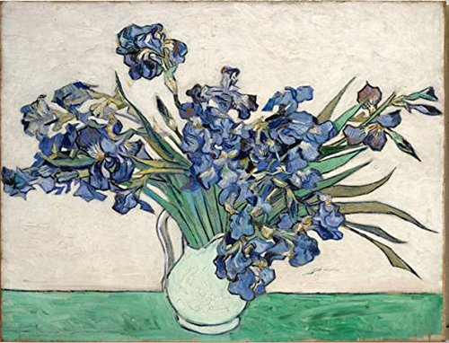 - Wieco Art Irises by Van Gogh Famous Floral Oil Paintings Reproduction Modern Wrapped Giclee Canvas Prints Blue Flowers Pictures on Canvas Wall Art for Living Room Bedroom Home Office Decorations